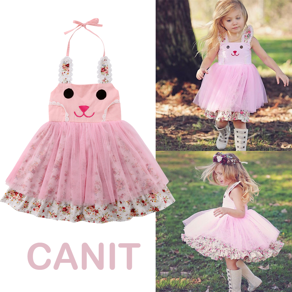 US Princess Kid Baby Girl Dress Lace Tulle Floral Party Solid Bridesmaid Dress