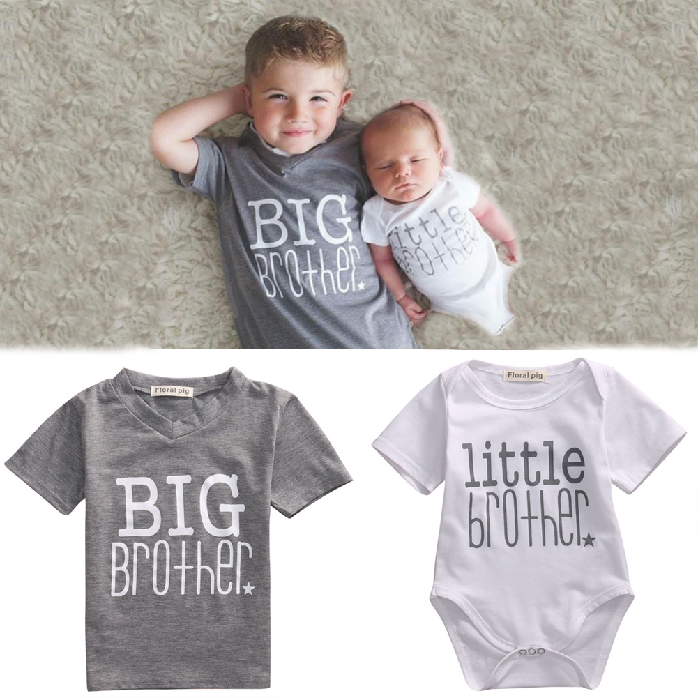 dff16a6f6f18 Big Little Brother Matching Clothes Tops Toddler Infant Baby Boy T ...