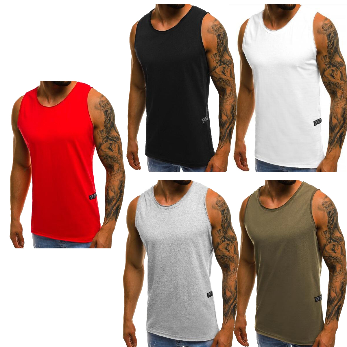 065333fefc2a8 Blank Sleeveless Tank Top Singlet M-3XL Small Big Men s Cotton ...