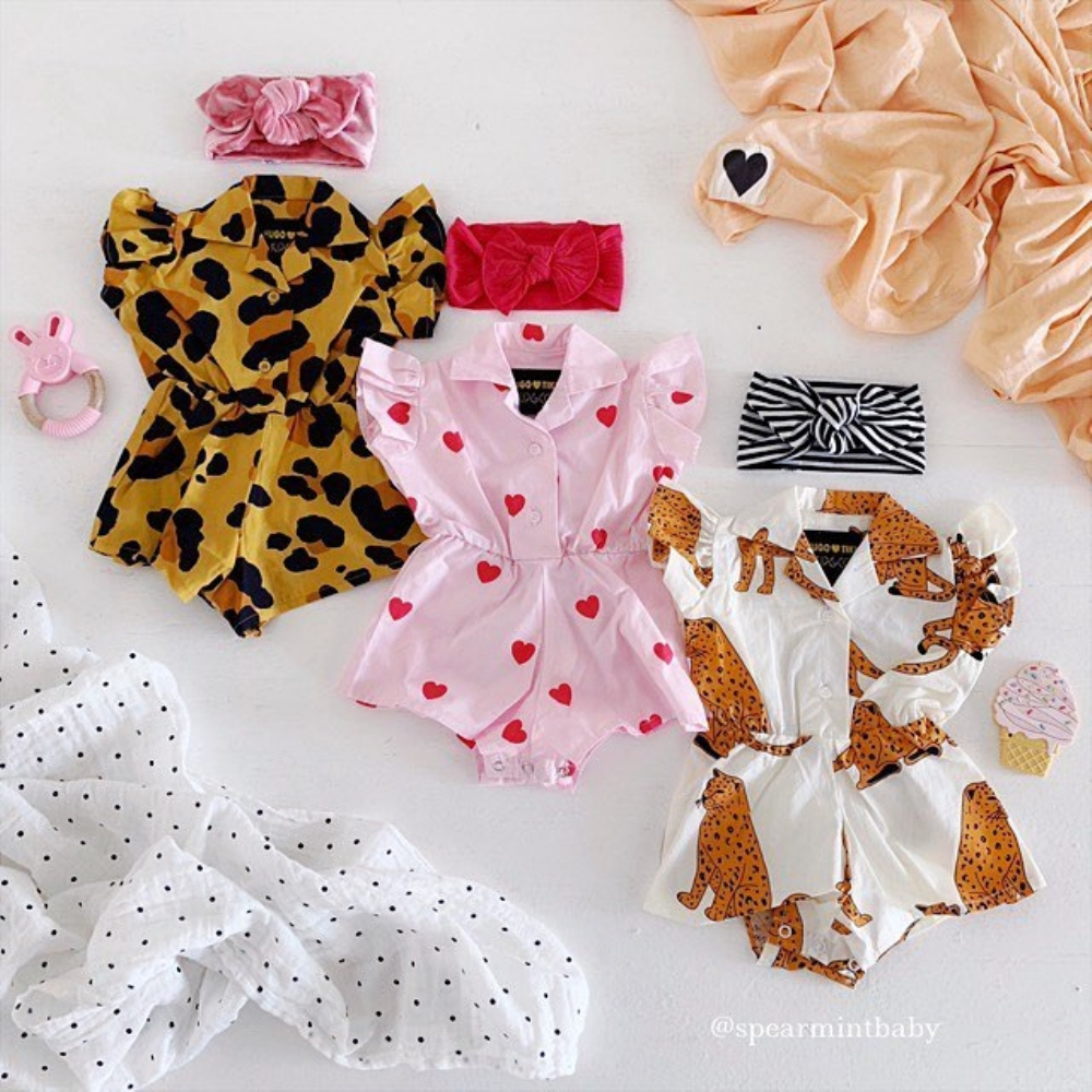 UK Newborn Baby Girl Ruffle Romper Jumpsuit Bodysuit Dress Clothes Summer Outfit