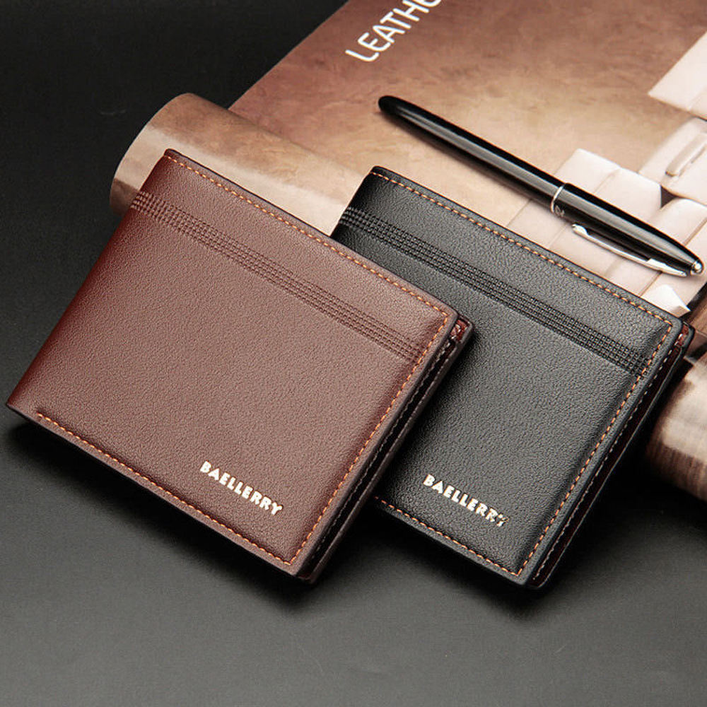 524a96ab7dcb Details about Fashion Men's Bifold Leather Wallet ID Credit Card Holder  Billfold Purse Clutch