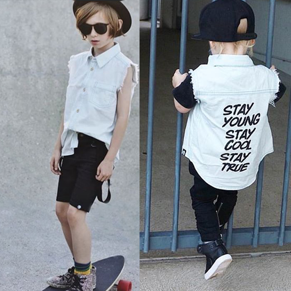 378787f8cf9b5 Details about AU Baby Boys  Basic Denim Jacket Button Down Jeans Summer Jacket  Top