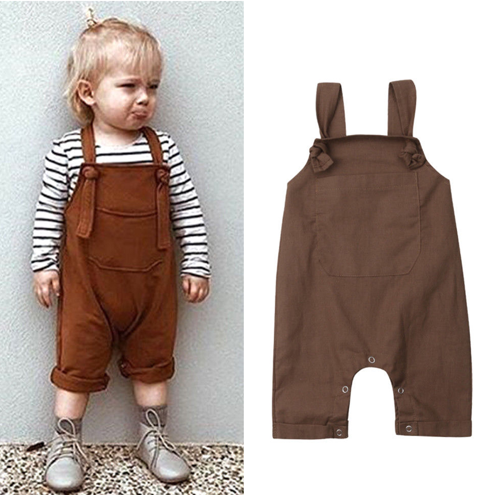 449f244f8 Details about 2019 Infant Baby Boys Girls Dungarees Bib Pants Romper Overalls  Outfits Clothes