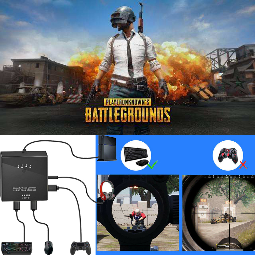 Mouse And Keyboard Converter Adapter For Ps4 Ps3 Xbo Xone Xbox 360