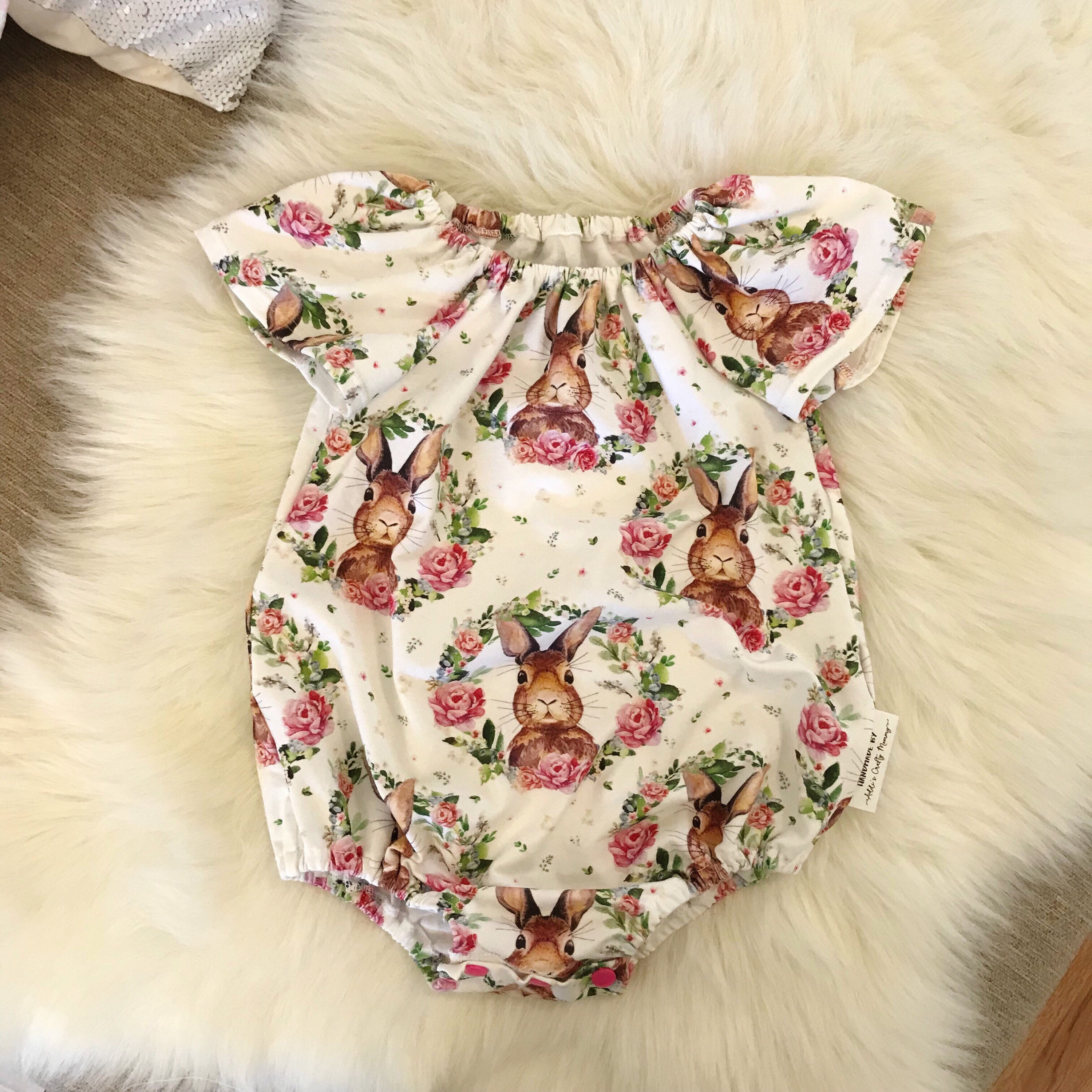 46cb78a9c Details about 2019 Easter Newborn Baby Girls Bunny Flowers Romper Jumpsuit  Outfits Clothes