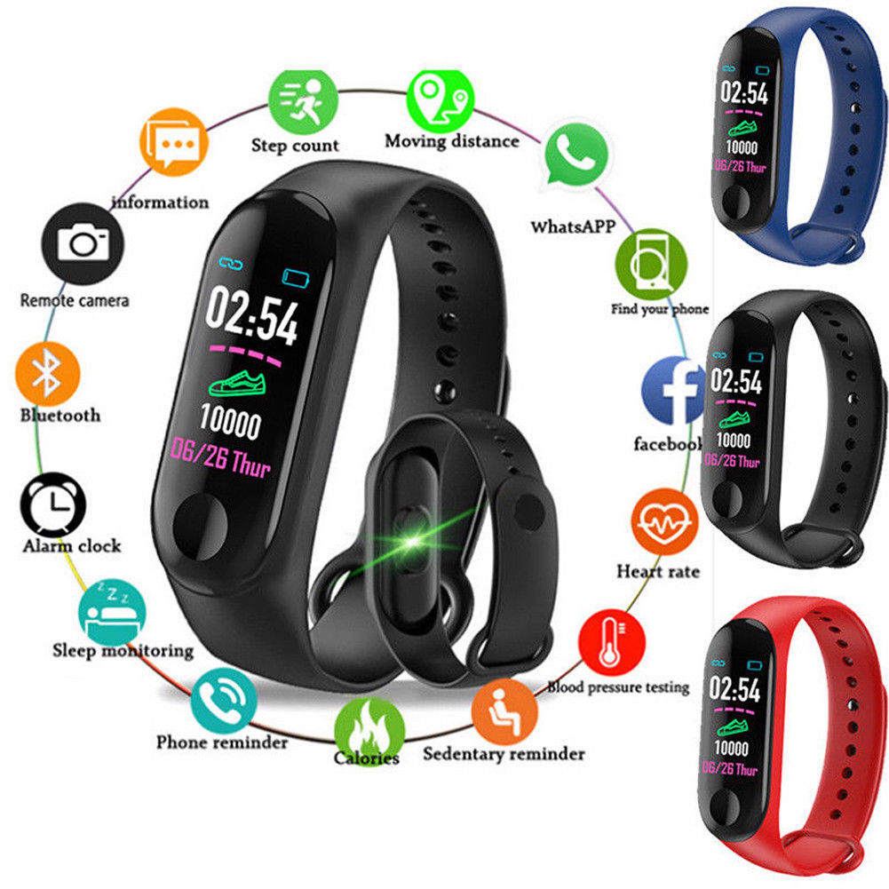 Details About Smart Wristband Bracelet Watch Heart Rate Monitor Blood Pressure Fitness Tracker
