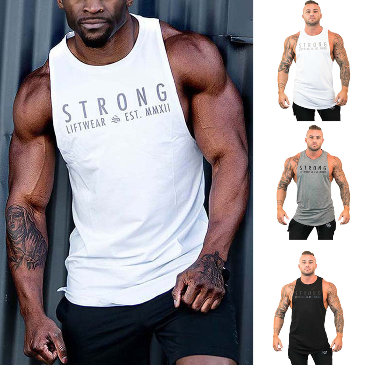 751510e3 Details about HOT Mens Bodybuilding Stringer Tank Top Y-Back Gym Workout  Sports Vest Shirt