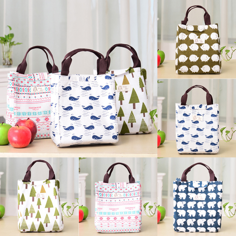 Lunch Bag Insulated Women Tote Thermal Box Cooler Travel Picnic Carry Adult//Kid