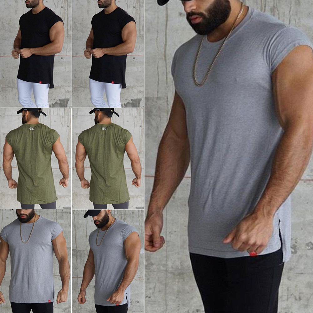 019c5a8005e13 Details about Men Gym Clothing Bodybuilding Stringer Hoodie Tank Tops  Muscle Hooded Shirt Vest