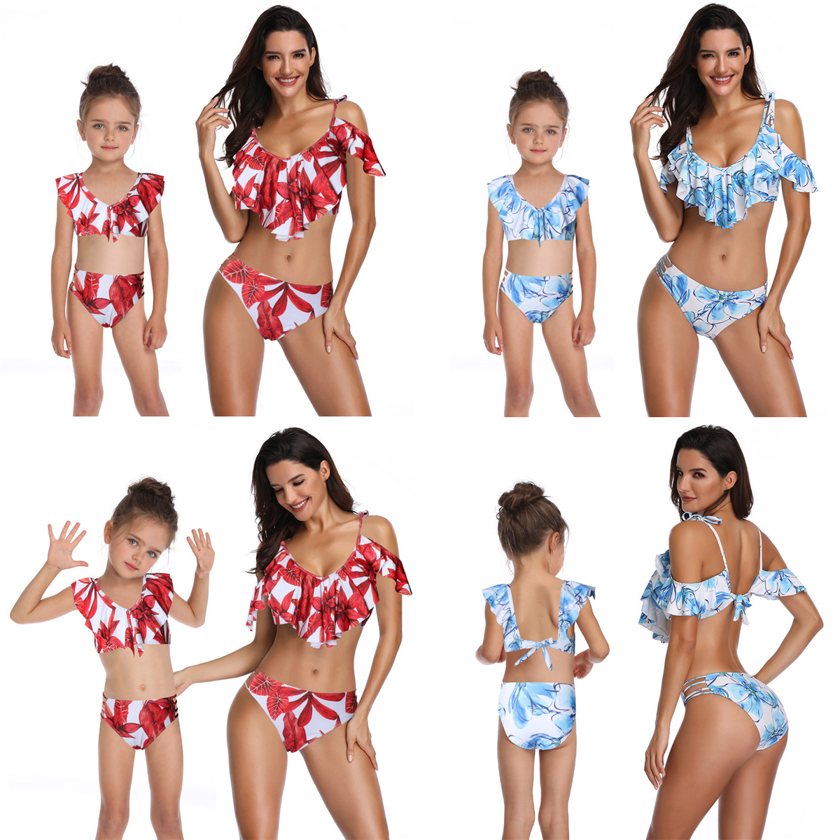 Matching Family Outfits Women Kids Family Clothes Mother Daughter Bikini Swimwear Baby Girls One Piece-swimsuit-beach Carefully Selected Materials