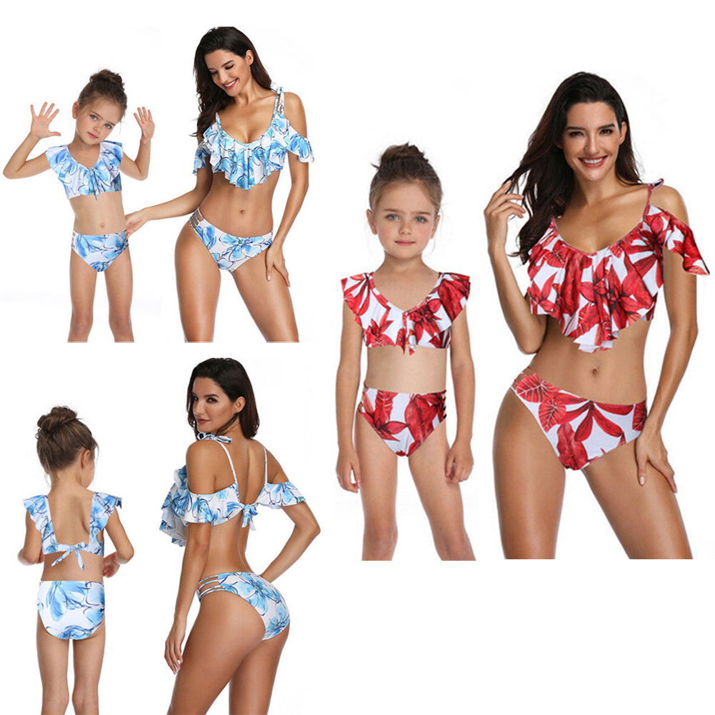 db1f851910140 Mommy and Me Swimsuits Daughter Bikini Set Girls Family Matching ...