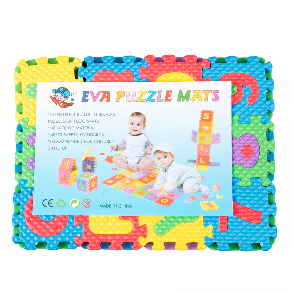Details about Baby Soft EVA Foam Play Mat Alphabet Numbers 0-9 Puzzle DIY Toy Floor Tile Game