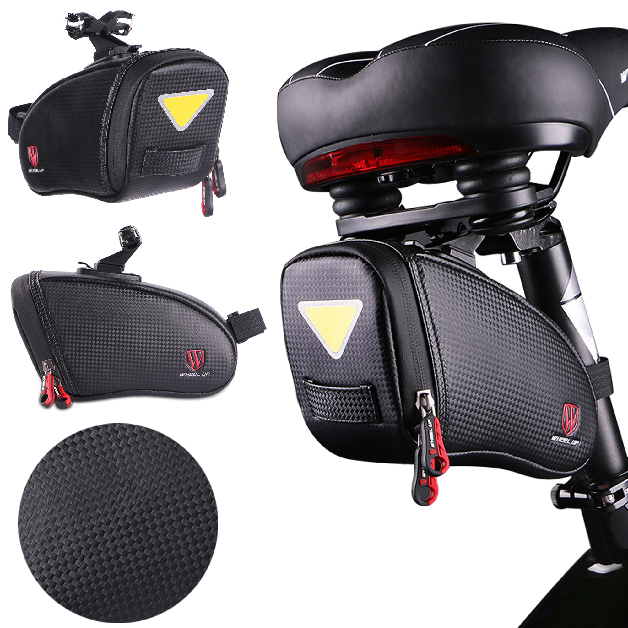 Bike Holder Seat Saddle Bag Bicycle Rear Tail Strap-On Pouch Large NEW SB1