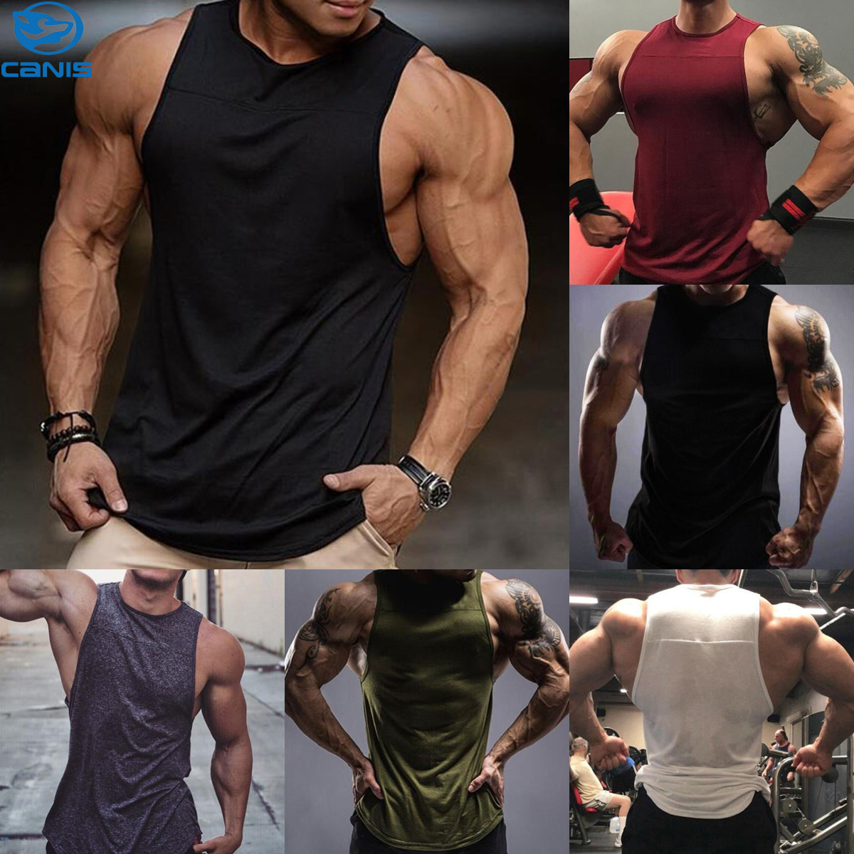 e3be2822c227f Details about MenS Gym Singlet Tank Top Tee Stringer Bodybuilding Y-Back  Muscle Fitness Vest