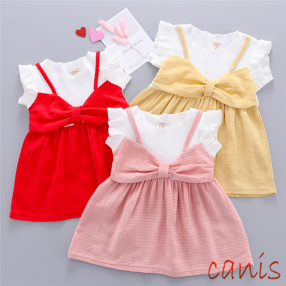 fa1b26ff7b Details about US Baby Girls Princess Beach Dress Casual Sundress Clothes  Unicorn Outset Top