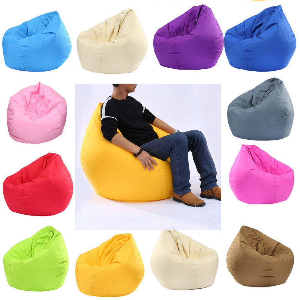 Bean Bag Sofas 2 In 1 Bean Bag Lazy Sofa Signle Sofa Chair Cover Lounger Room Furniture With Large Capacity Durable Storage Bag Strong Packing Home Furniture