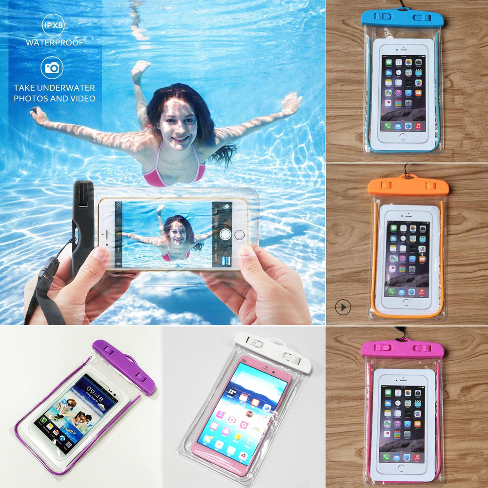 2019 Luminou Waterproof Phone Case Anti-Water Pouch Dry Bag Cover for Cell Phone