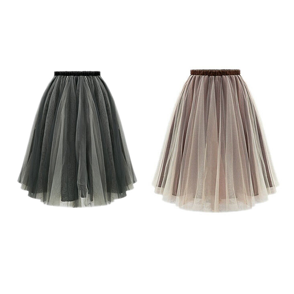 4054a62f0 Women Multilayer Gauze Skirt Tutu skirt Ball Gown Bubble Skirt ...