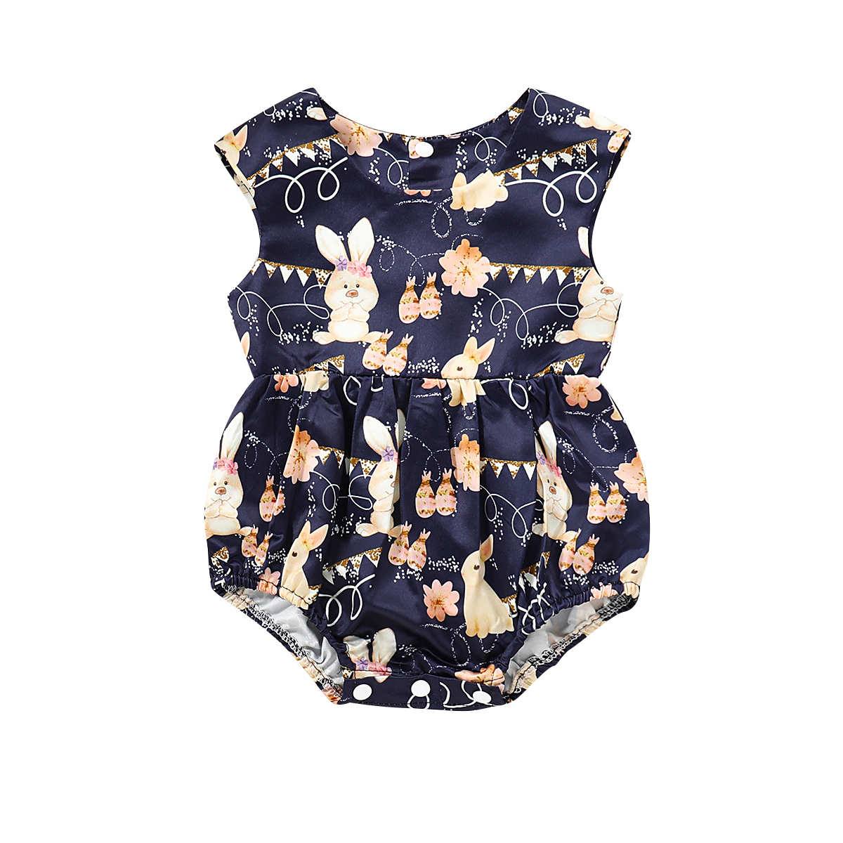 US Infant Toddler Baby Girls Boys Bunny Romper Jumpsuit Playsuit Outfits Clothes