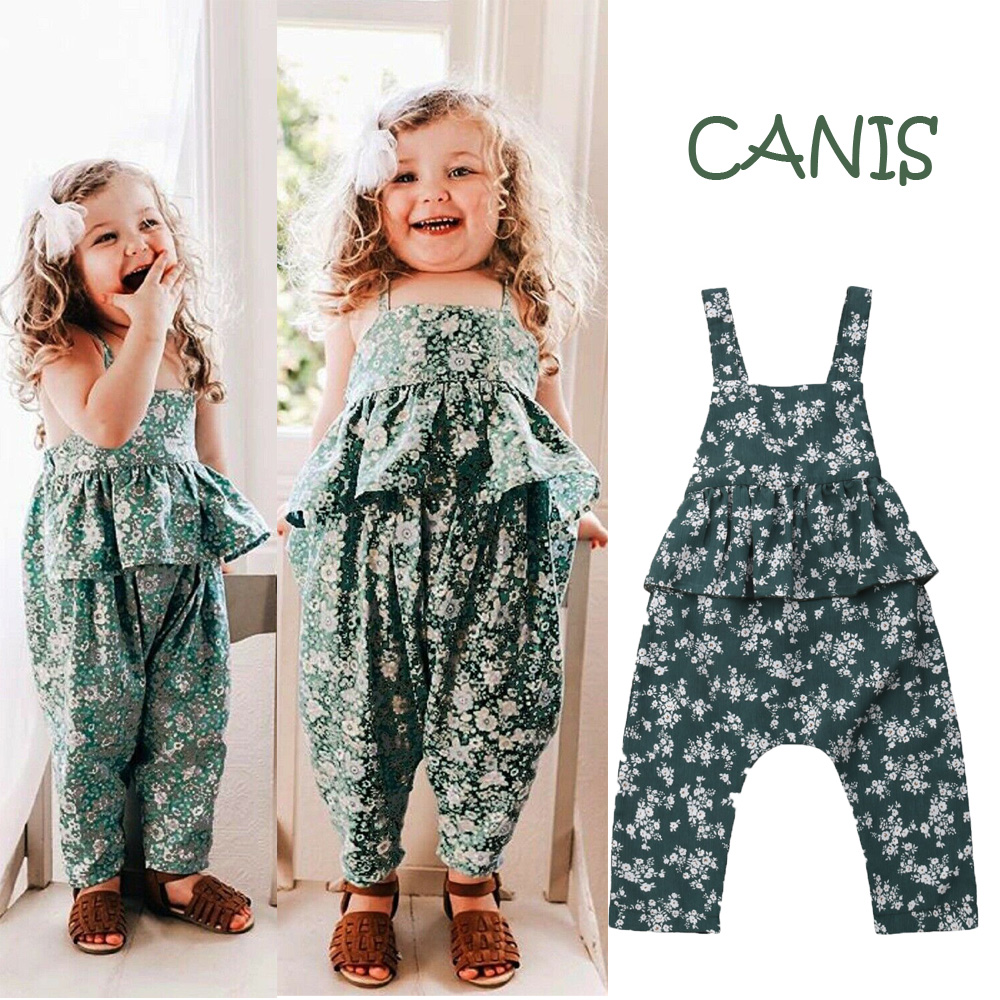 fbb6f6e6a457 Details about Toddler Kid Baby Girls Ruffle Jumpsuit Bib Pants Romper  Overalls Outfits Clothes