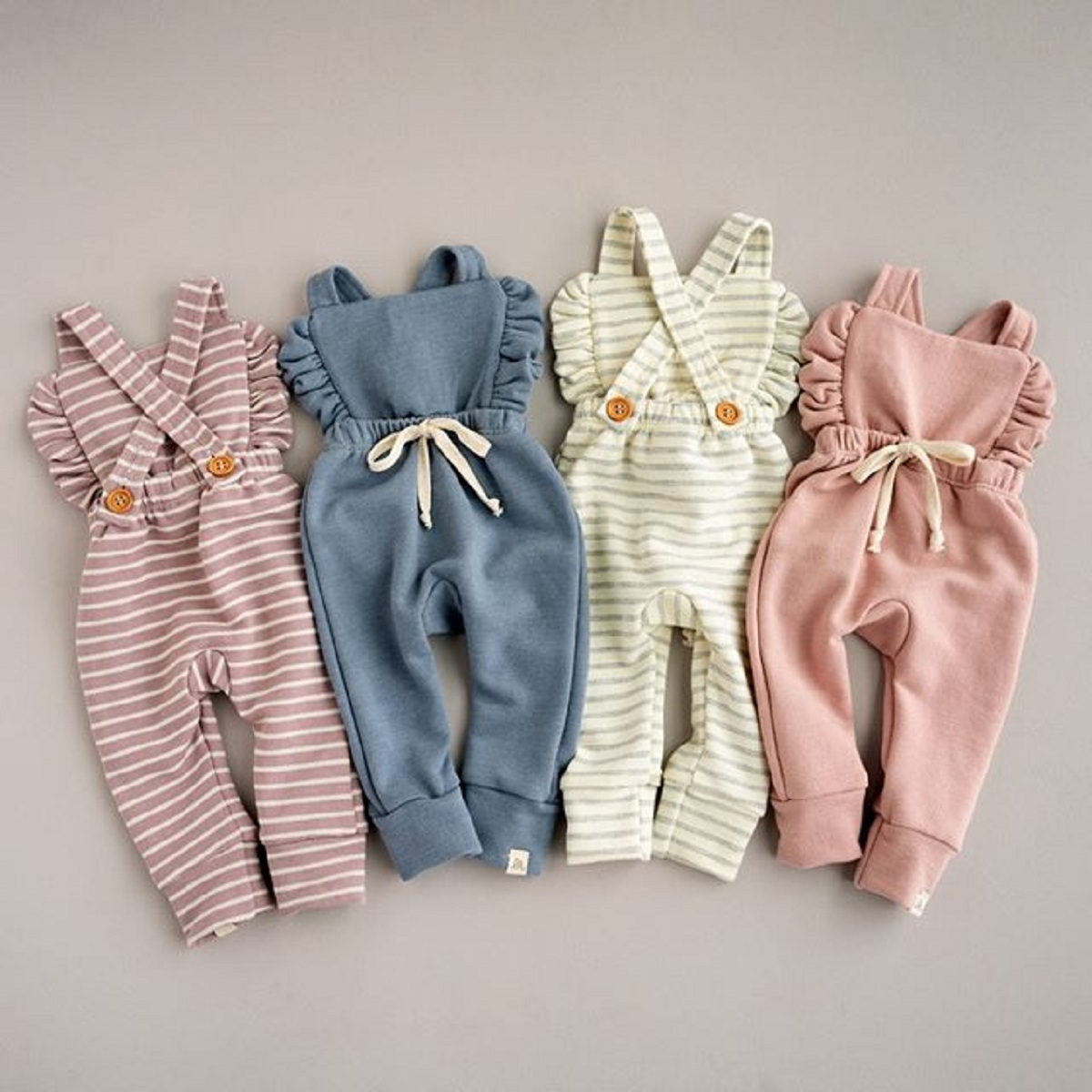 Newborn Kids Long Sleeved Coveralls Cute Shark Baby Clothes