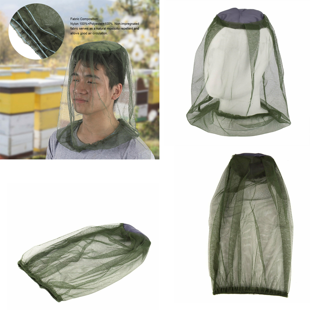942a74b70928ec Details about Fly Mosquito Head Net Hat Protector Farm Picking Fishing  Gardening Camping US