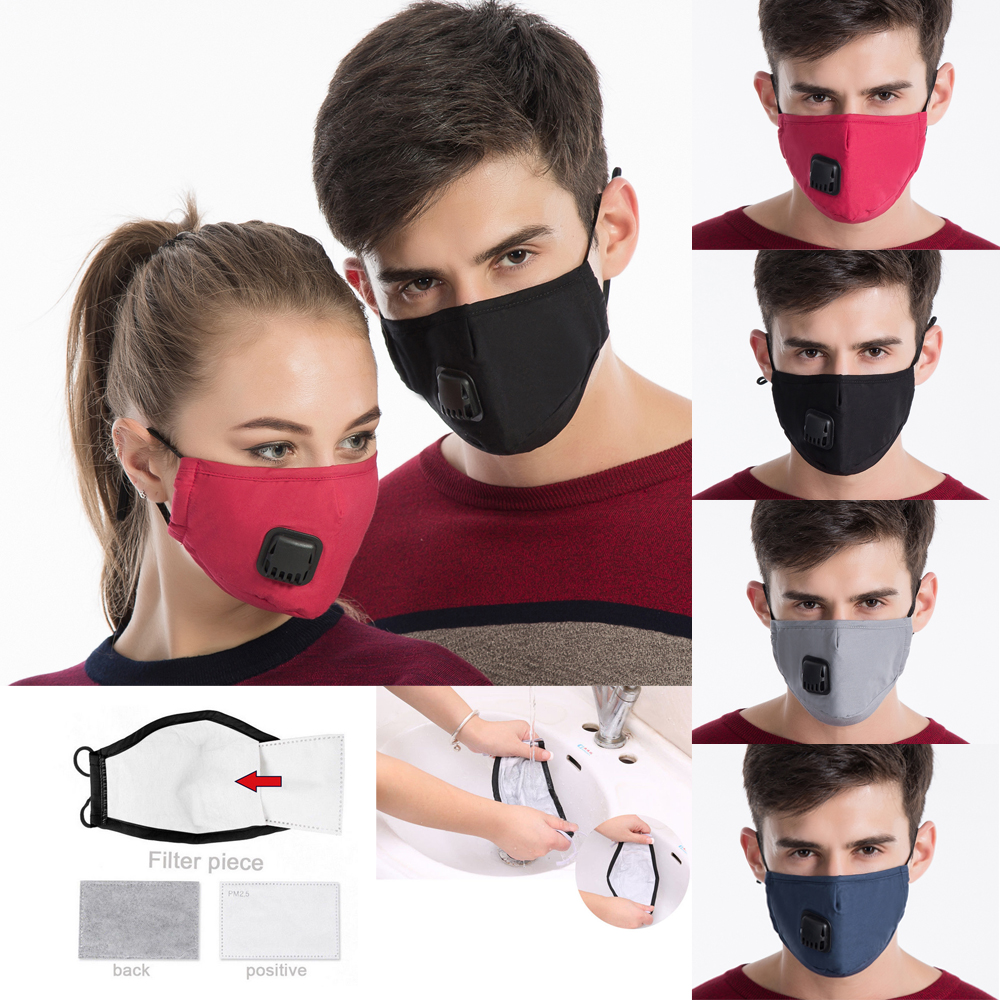 Washable Mask Haze Details Dust Anti Filter Face Pm2 Respirator 5 Mouth About Pollution Cotton