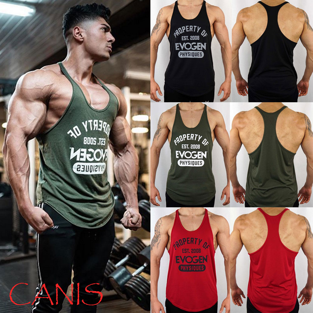 c87846768ef Details about Mens Bodybuilding Stringer Tank Top Y-Back Gym Workout Sports  Vest Shirt Clothes