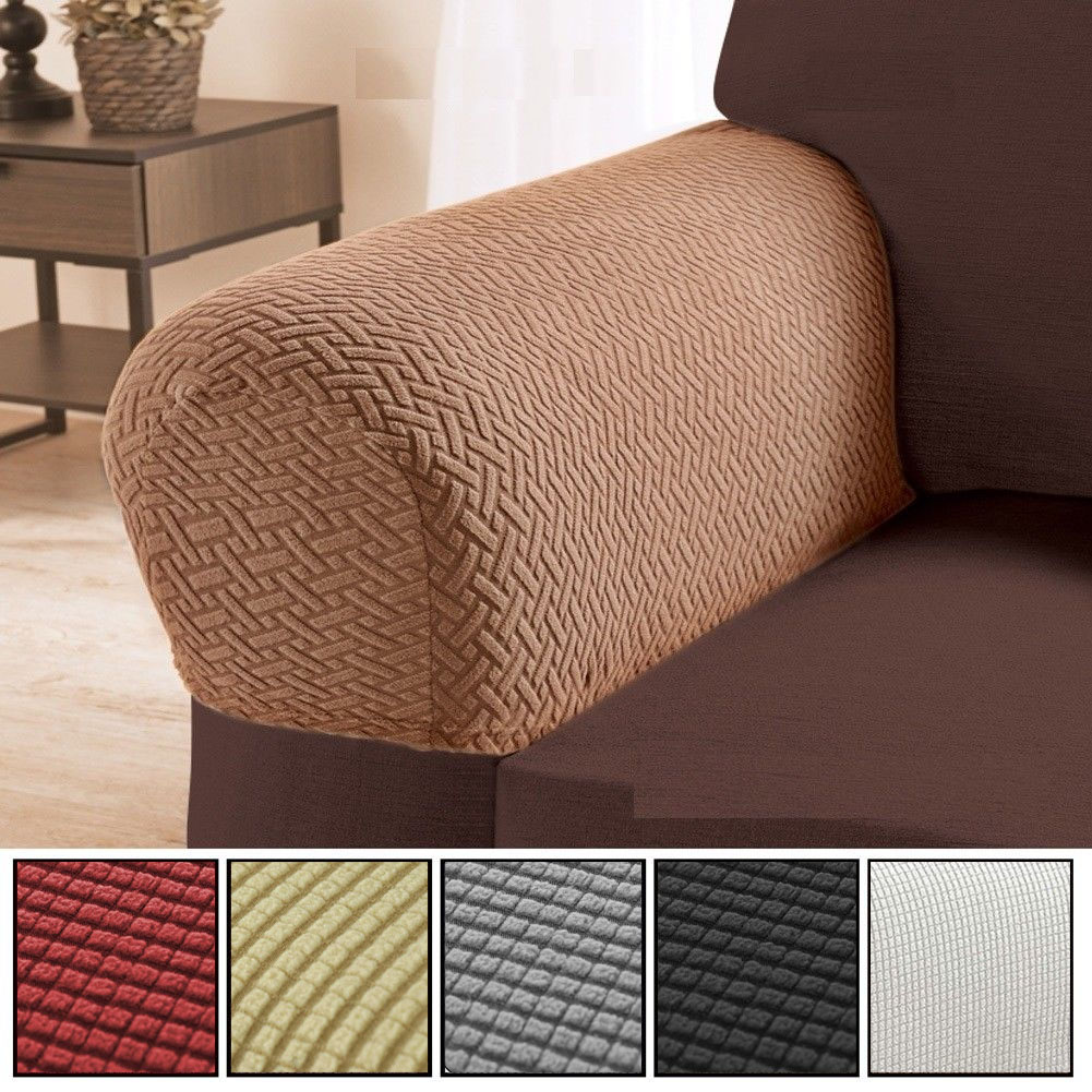 Sofa Arm Protectors Armrest Covers Stretchy Set Stretch For Chair
