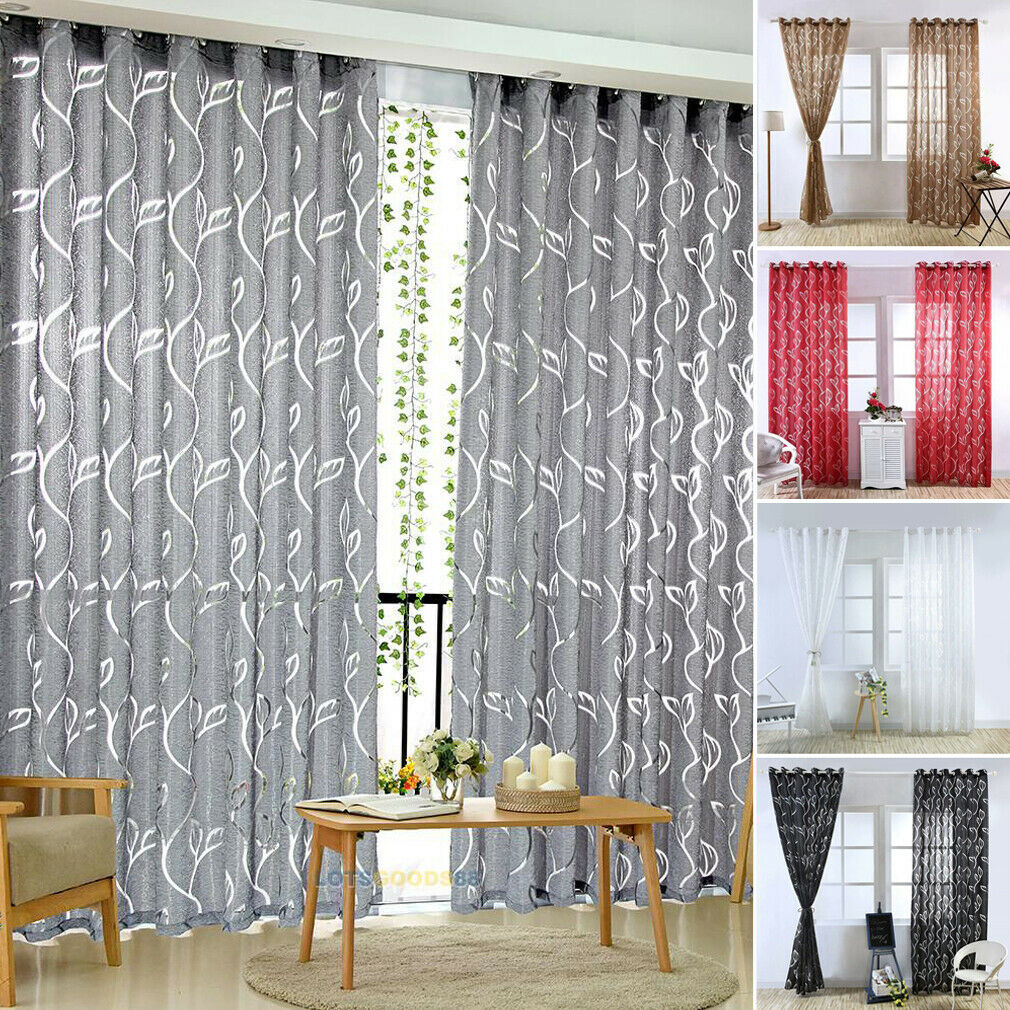 Details About 100 200cm Living Room Curtains Window Blinds Panel D Printed Curtain Us