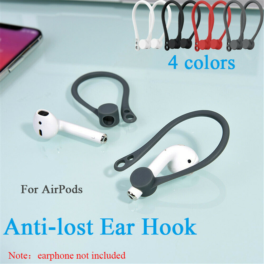 2 Pair Anti-Lost Secure Sport Ear Hook Holder Ear Attachment Loops ForApple AirPods 1 /& 2 Earphone Earbuds Earpods EarHooks for AirPods 1 Pair White, 1 Pair Red