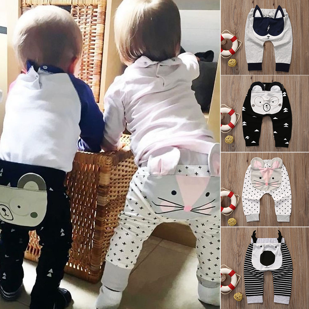 Baby Children Kids Boys Girls Cartoon Shark Tongue Harem Pants Trousers Pants A2