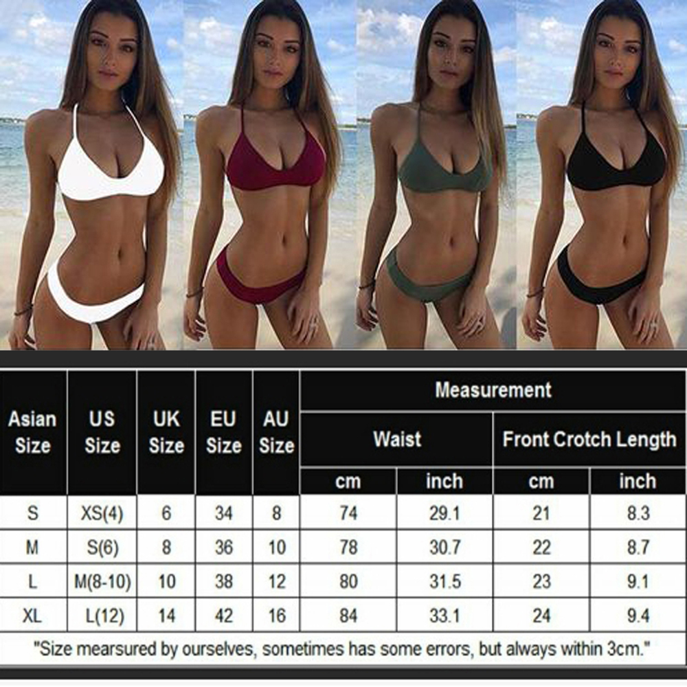 USA Sexy Women Bandage Bikini Set Push-up Bra Swimsuit Bathing Suit Swimwear