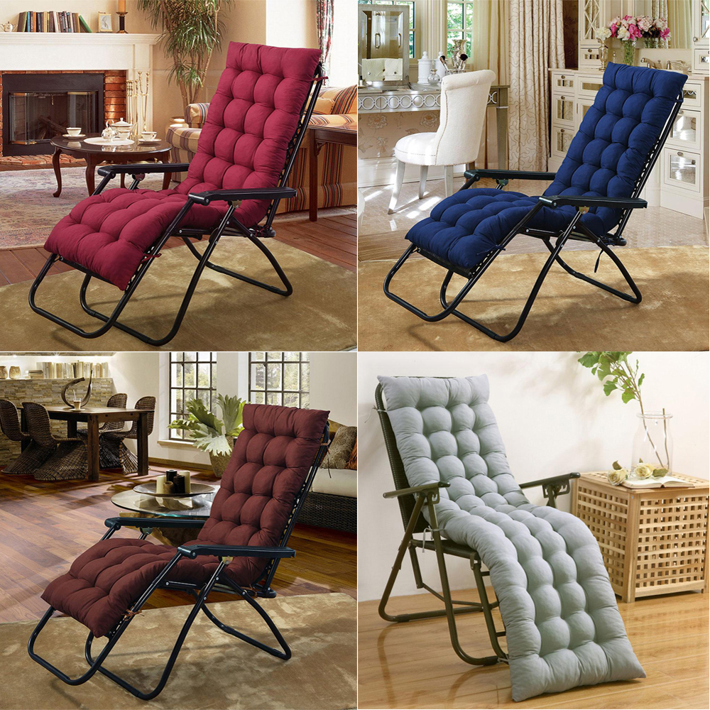 Cushion Cotton Chair Seat Pad soft Replacement Pad Garden Sun Lounger Recliner