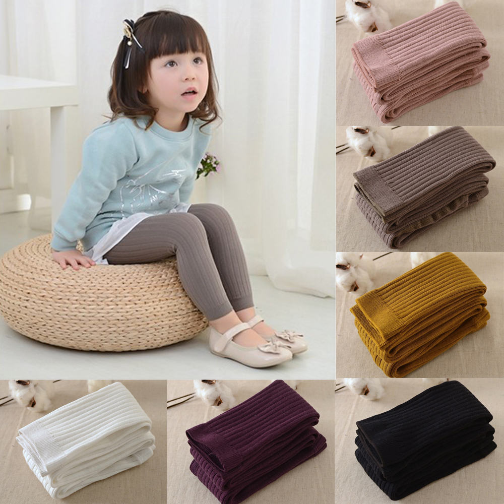 6454d47e361582 Baby Girl Kid Warm Knitted Cotton Hosiery Pantyhose Pants Stockings ...