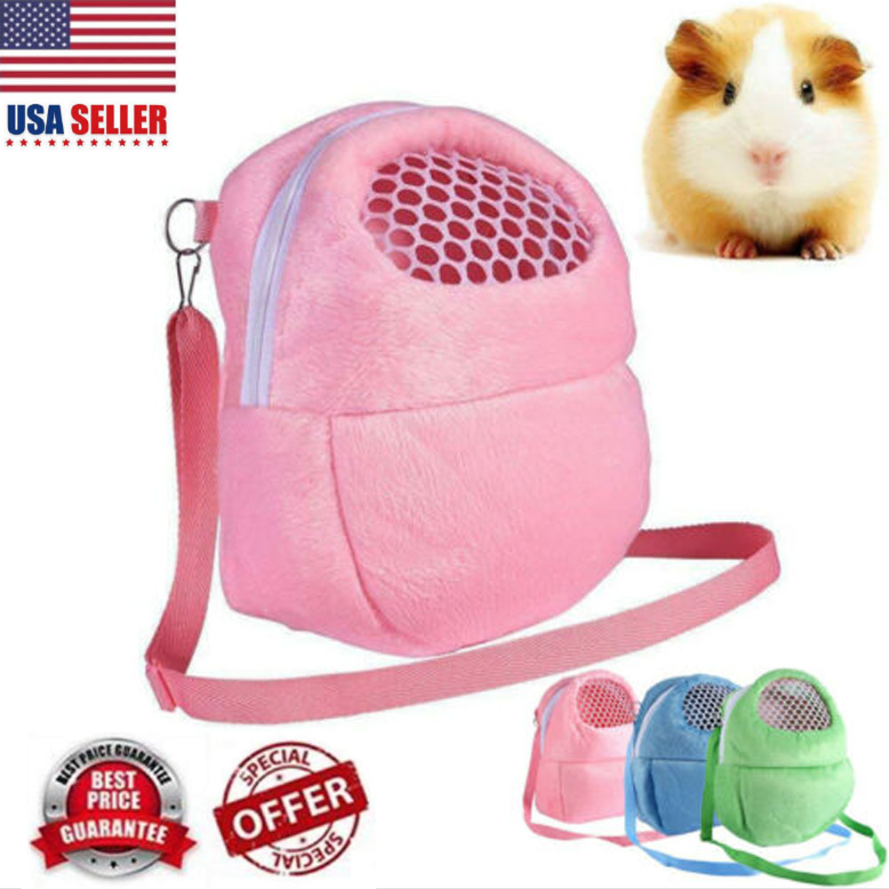 Details about USA Portable Outdoor Pet Carrier Hamster Carry Pouch Mesh Bag  Backpack Travel