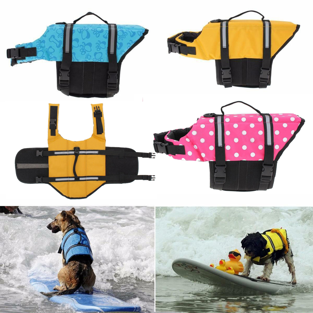 Details about 1Pcs Pet PFD Dog Cat Saver Life Jacket Vest Reflective  Preserver Aquatic Sailing