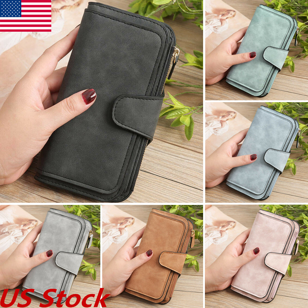 b02f4e35c032 Details about US Womens Retro Glamorous Multiple Wallets Long Design Lady  Fashion Wallet Purse