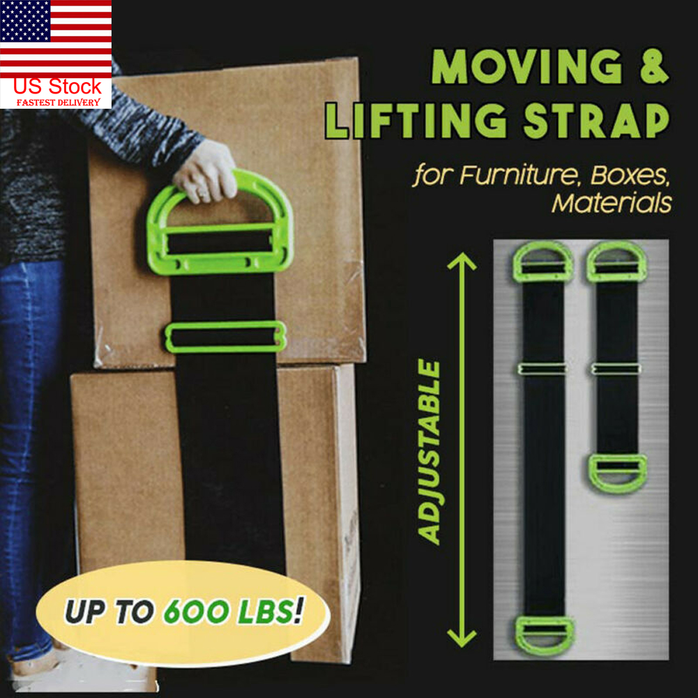 24aed64eba58 Details about US The Landle Adjustable Moving And Lifting Straps For  Furniture Boxes Mattress