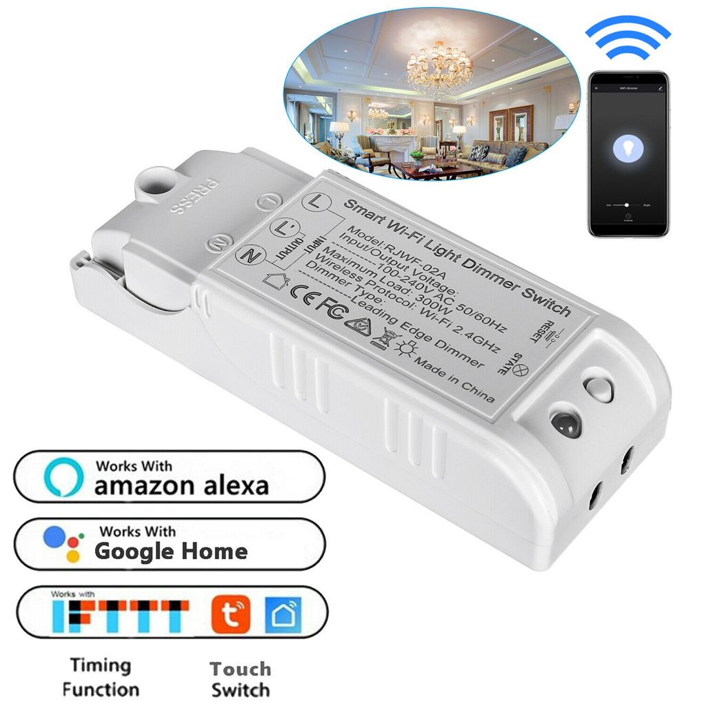 Details about New WiFi Smart Wall Light Switch Dimmer APP Control No Hub  Work Alexa Google DGA