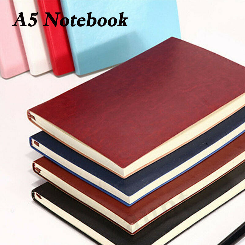 A5 Hardback Lined Page Pad Notepad Note Pad Notebook Book Cover Pink Business, Office & Industrial Supplies