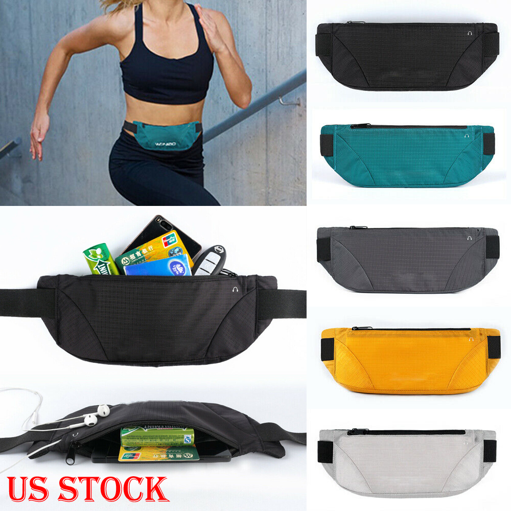 a0f79dbffecc Details about Waterproof Sport Runner Waist Bum Bag Running Jogging Belt  Pouch Zip Fanny Pack