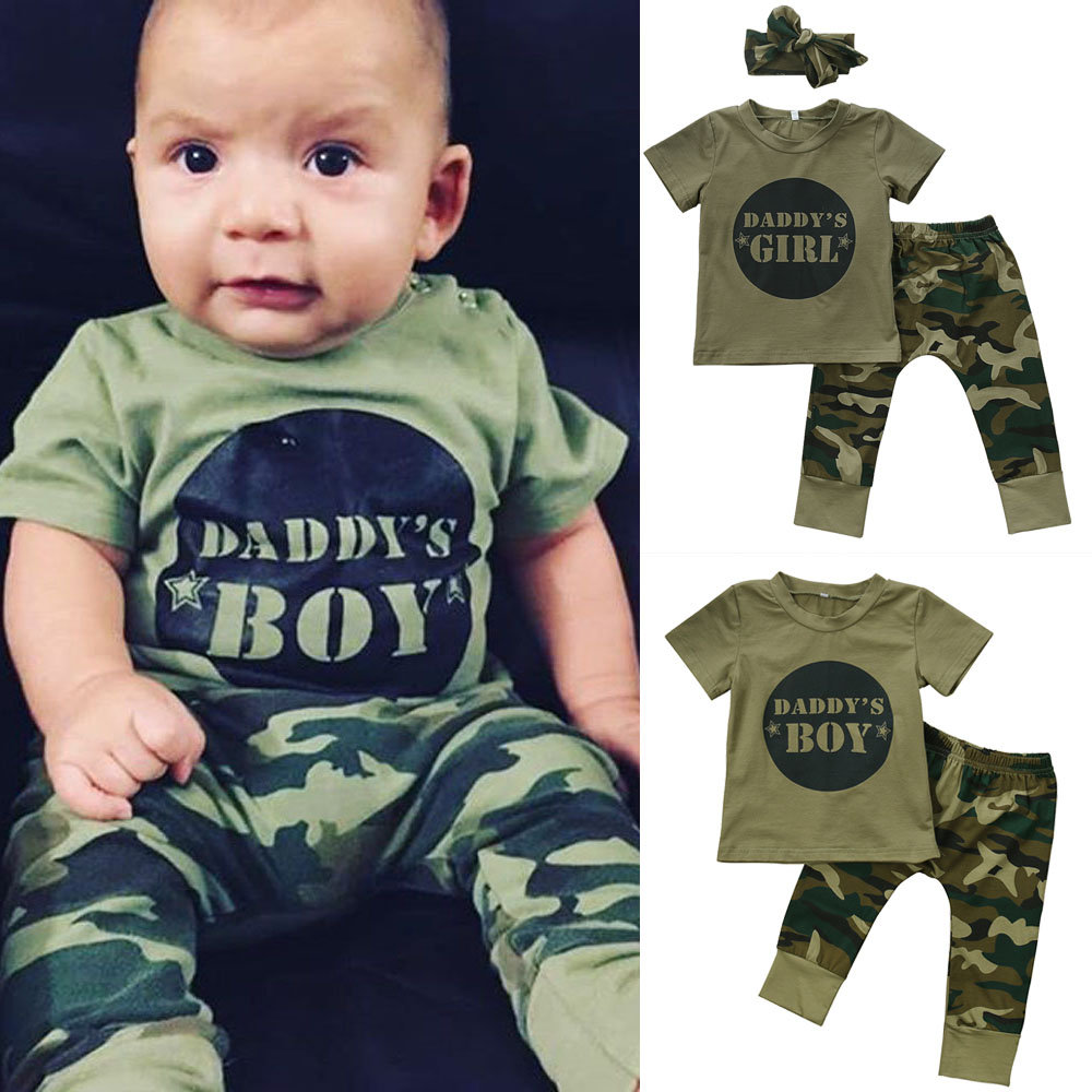 Canis Toddler Kids Baby Boys Tops T-shirt Camo Pants Leggings Outfit Clothes UK