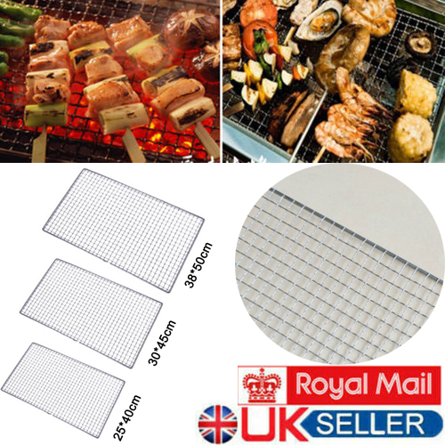 BBQ Grill Grate Grid Mesh Rack Picnic Cooking Stainless Steel Replacement Net UK