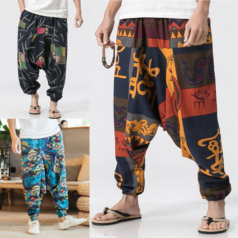 26d33d2b4a Details about New Mens or Womens Harem Pants Hippie Aladdin Bohemian Boho  Baggy Gypsy Trousers