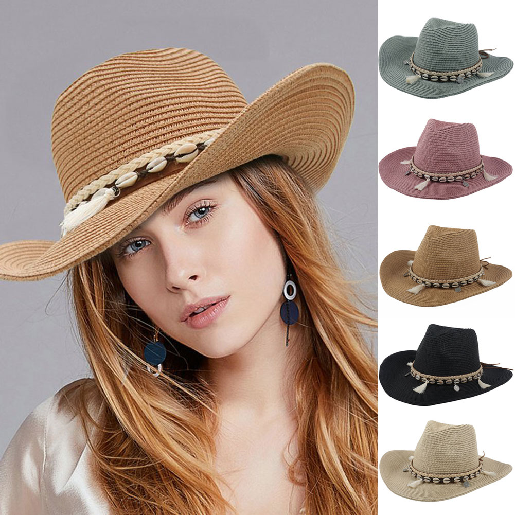 Details about New Women Hat Wide Brim Straw Beach Hats Outdoor Floppy Fold  Hats Sun Protection