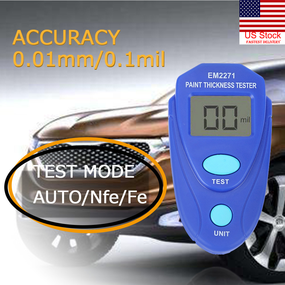 LCD Digital Painting Thickness Meter Car Coating Thickness Gauge Tester Measure