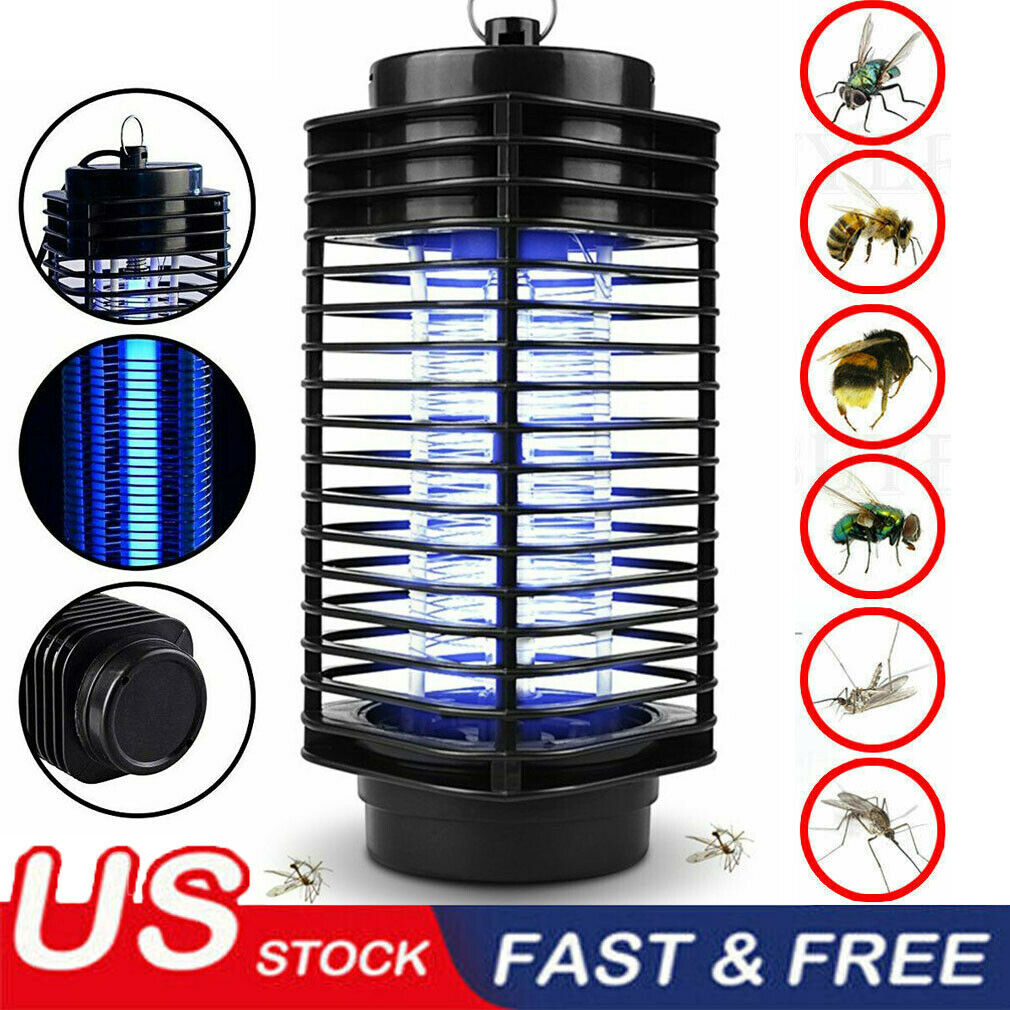 Outdoor Fly Bug Insect Zapper Traps Electric UV Mosquito Killer Lamp US