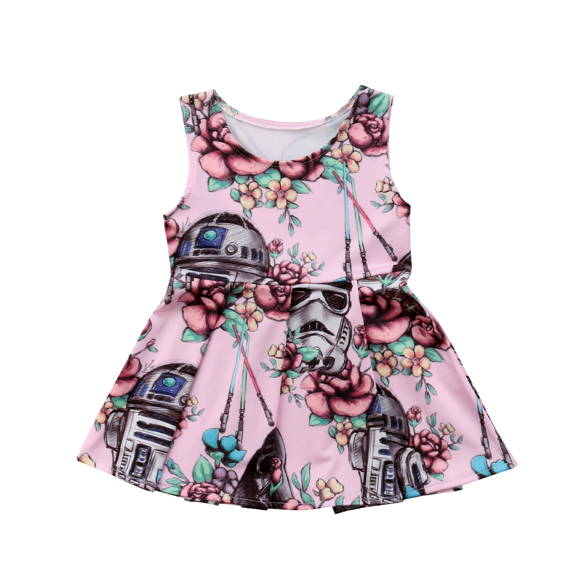 Newborn Toddler Baby Girl Animal Summer Party Pageant Dress Sundress Clothes US