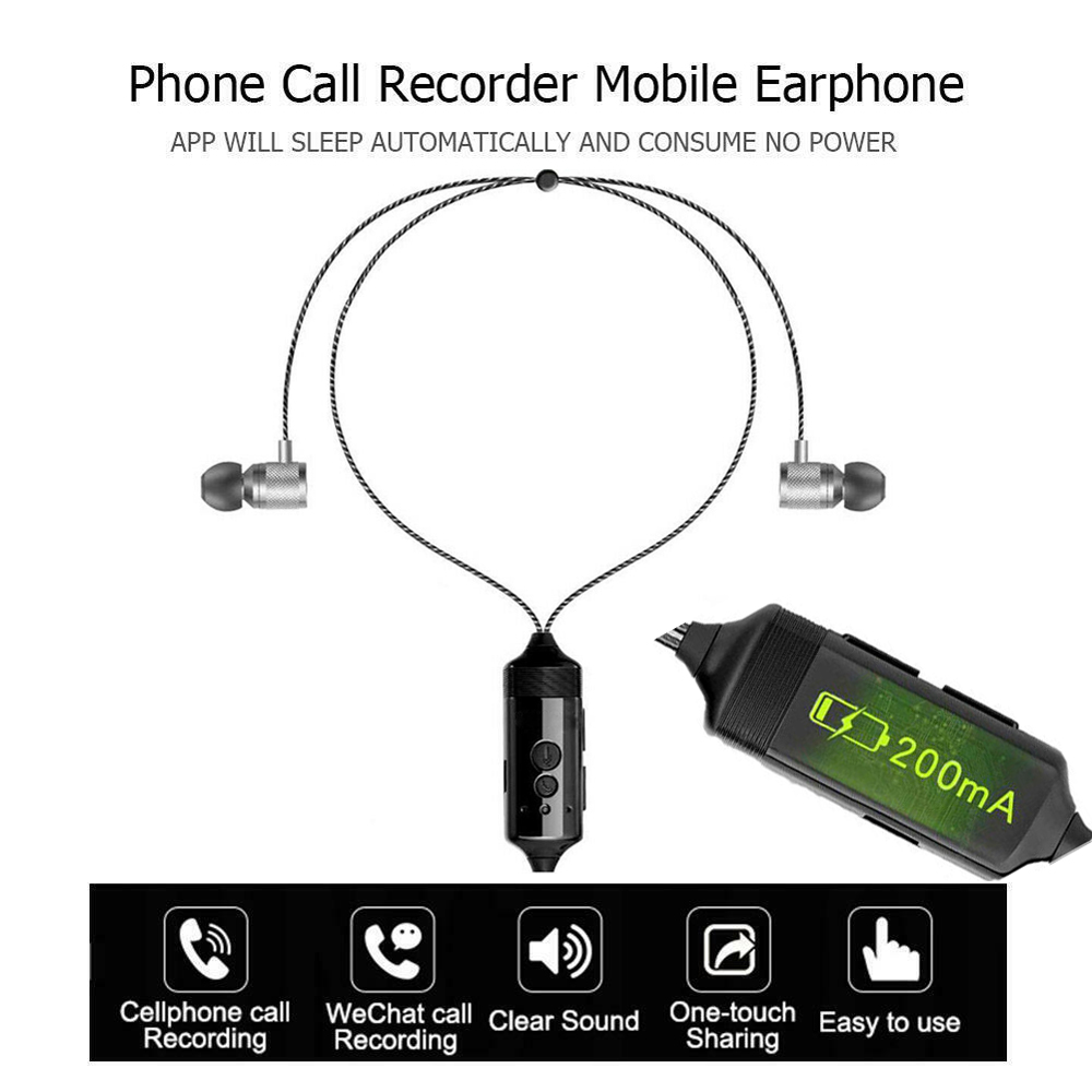 for iPhone phone Recorder Headphones MIC Business Meeting